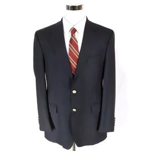 Chaps 100% wool Blazer 41S with Gold Buttons